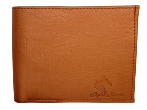 Apki Needs Stylish, Designer, Textured, Bi Fold Tan Men Wallet
