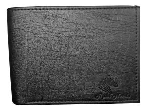 Apki Needs Stylish Designe Textured Bi Fold Black Men Wallet