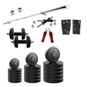 Gym Equipment (Misc) - Diamond Home Gym Product of 20Kg Weight with 3FT Plain for Muscle Workout