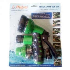 "Mitras Water Spray Gun Set 12.5mm (1/2"") Green With Tap Adapter"
