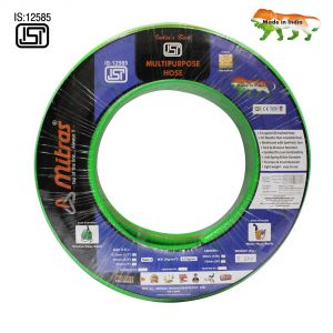 "Mitras Multipurpose Hose 1/2"" (12.5mm Id) - 100 Ft (30 Mtr) - Isi Marked 3 Layered Green Hose Pipe"