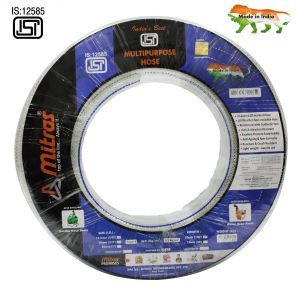 "Mitras Multipurpose Hose 1/2"" (12.5mm Id) - 100 Ft (30 Mtr) - Isi Marked 3 Layered Transparent Hose Pipe"