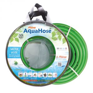 """AquaHose Water Hose (20mm ID) (3/4"""") - 50 Ft. (15 Mtr) ISI Marked Green Hose Pipe"""