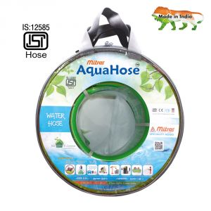 "Aquahose Water Hose (20mm Id) (3/4"") - 50 Ft. (15 Mtr) Isi Marked Green Hose Pipe"