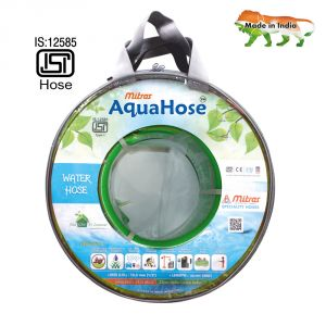 "Aquahose Water Hose (12.5mm Id) (1/2"") - 100 Ft. (30 Mtr) Isi Marked Green Hose Pipe"