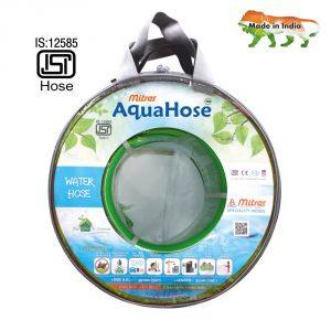 "Aquahose Water Hose (20mm Id) (3/4"") - 100 Ft. (30 Mtr) Isi Marked Green Hose Pipe"