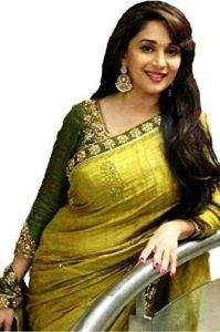"Bikaw Designer Sarees - Aracruz Women""s Designer Party Wear Embroidered Green Bhagalpuri Saree - Madhuri Bhagalpuri"