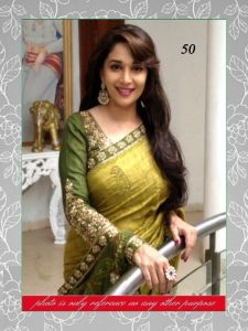 Bollywood Replica Crazyvilla Green Madhuri Designer Saree-(code-cr28)