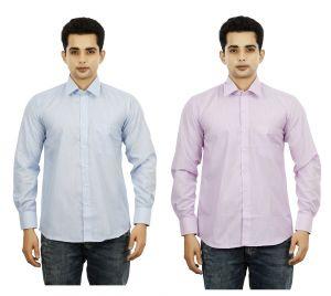 Formal Shirts (Men's) - Blue Nation Cotton Formal Shirts For Men - 3S0035