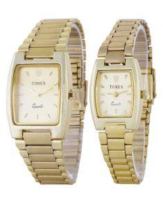 Analog - Stylish Golden Analog Couple Watches