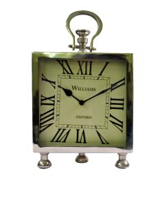 Duggals Silver Meatal Clock Big