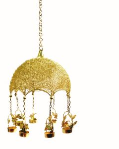 Chandeliers - Duggals Hanging jhumar Style tealight holder