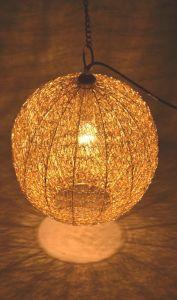 Chandeliers - Duggals Metal wiremish gold pendant