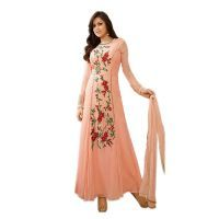 Ethnic Empire Women Faux Georgette Anarkali Semi-stitched Salwar Suit (code - Er10726)