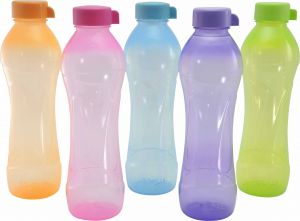 Trigal P.p. Cove Water Bottle -1 Ltr (set Of 5, Multicolour)