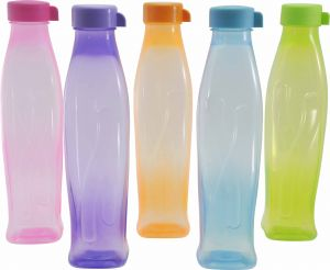 Trigal P.p. Tota Water Bottle -1 Ltr (set Of 5, Multicolour)