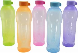 Trigal P.p. Dew Water Bottle -1 Ltr (set Of 5, Multicolour)