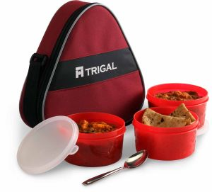 Trigal Triffin Lunch Box With Bag & Spoon