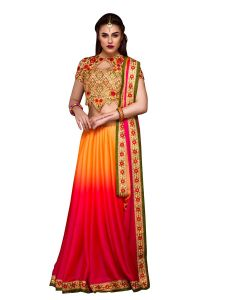 Stylee Lifestyle Multi Embroidered Saree 1014