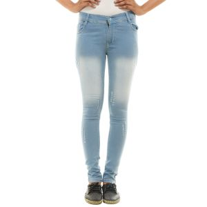 Ziva Fashion Women's Light Blue Distressed Skinny Jeans ( Code  - BlueJeans5)