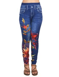 Ziva Fashion Girls/womens Blue Poly Cotton Leggings/jeggings ( Code - J1 )