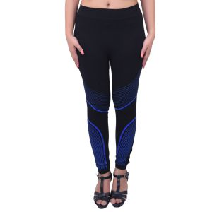 Ziva Fashion Black Athletic Free Size Jeggings - ( J59-fr )