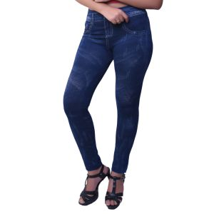 Ziva Fashion Dark Blue Free Size Jeggings - ( J84-fr )