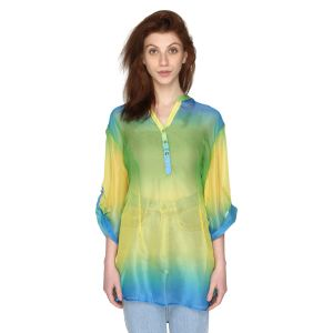 P-nut Womens Multicoloured Printed Top With 3/4th Sleeves(code-om355-b)