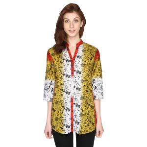 P-nut Womens Cotton Printed Top With 3/4th Sleeves(code-om383-b)