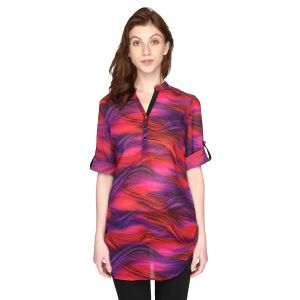 P-nut Womens Georgette Printed Top With 3/4th Sleeves(code-om406-a)