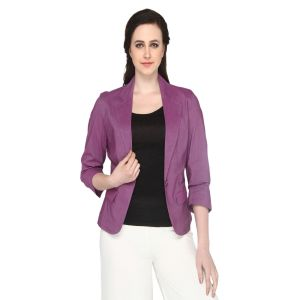 Blazers and jackets for women - P-Nut Women's Solid Jacket OM410A
