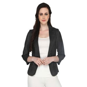 Blazers and jackets for women - P-Nut Women's Solid Jacket OM410B