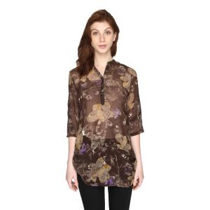 P-nut Womens Chiffon Georgette Floral Printed Top(code-om416-c)