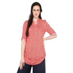 P-Nut Women's Cotton Floral Print Casual Top OM432A