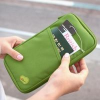 Travel organisers - Passport Document Holder Organizer For Money Ticket Cards Coins