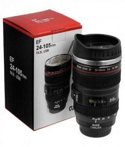 Tea & coffee sets - Camera Lens Shaped Black Coffee Tea Mug
