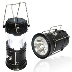 Torches and flashlights - Updated Camping Lantern, Solar Rechargeable LED Camp Light & Handheld Flashlight In The Bottom For Hiking