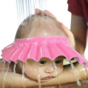 Baby bath & skin essentails - Futaba Adjustable Baby Shower Shampoo Cap - Pink