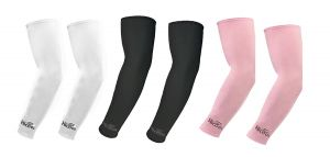 Hi Cool Arm Sleeves For Uv Sun Protection And Sports(white, Black, Pink) - 3 Pairs