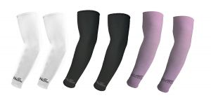 Hi Cool Arm Sleeves For Uv Sun Protection And Sports(white, Black, Purple) - 3 Pairs