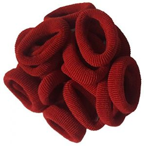 Atyourdoor Red Hair Rubber Bands For Girls - 50 Pieces