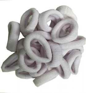 Atyourdoor White Hair Rubber Bands For Girls - 50 Pieces