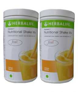 Herbalife Formula 1 Nutritional Shake Mix Pack Of 2, 0.5 Kg Mango