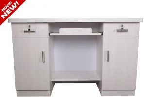 Caspian White Study Table