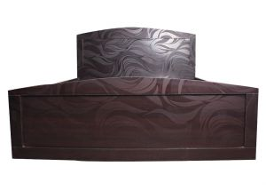 Black Queen Size Textured Bed With Storage