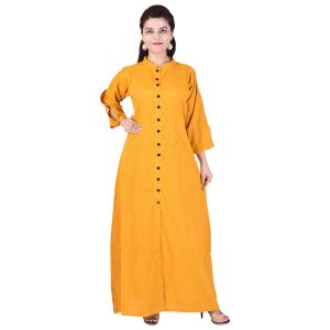 Glorious Moment A-line Cotton Kurti(code-glorious-427-orange)