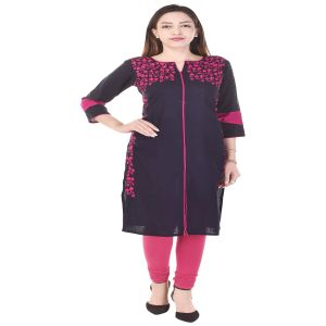 Glorious Moment A-line Cotton Kurti(code-glorious-330-blue)