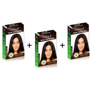 Synaa Herbal Hair Color Brown (pack Of 3)