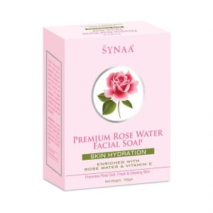 Soaps - Synaa Premium Rose Water Facial Soap