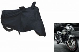Spidy Moto Sporty Champion Bike Body Cover Water Proof Black - Tvs Apache